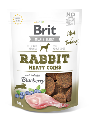 Brit® Dog Jerky Meaty Coins Rabbit