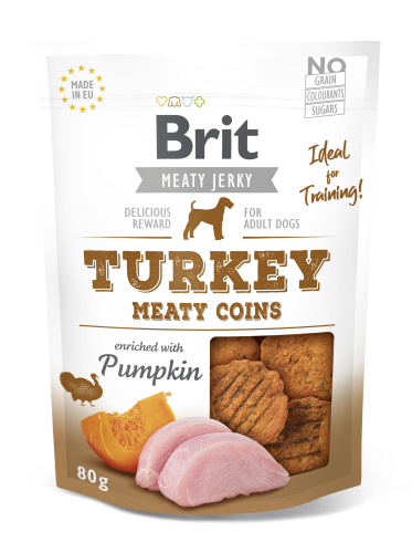 Brit® Dog Jerky Meaty Coins Turkey