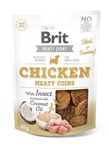 Brit® Dog Jerky Meaty Coins Chicken with Insect